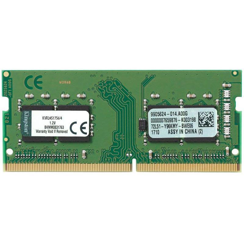 Kingston ValueRAM 4GB 2400Mhz DDR4 Non-ECC 260-Pin SODIMM CL17 PC Memory Module