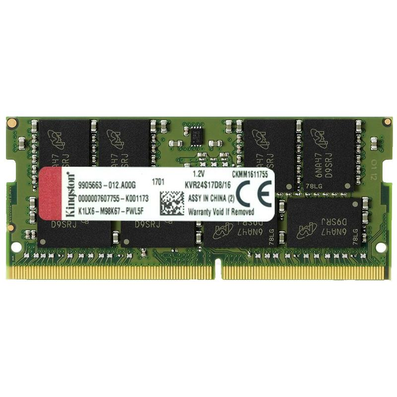 Kingston ValueRAM 16GB 2400Mhz DDR4 Non-ECC 260-Pin CL17 SO-DIMM Laptop Memory Module