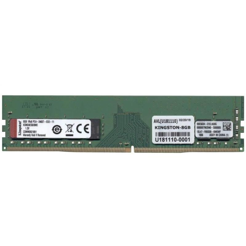 Kingston ValueRAM 8GB (1x8GB) 2400Mhz DDR4 ECC 288-Pin CL17 DIMM PC Memory Module