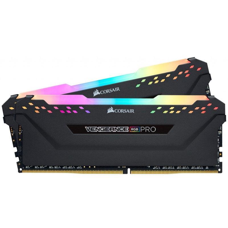 Corsair Vengeance RGB PRO 16GB (2x8GB) 3000MHz DDR4 Non-ECC 288-Pin CL15 DIMM PC Memory Module - Black