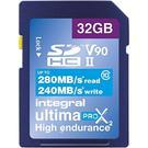Integral 128GB Ultima PRO X2 SD Card SDXC UHS-II V90 Class 10 - 280MB/s