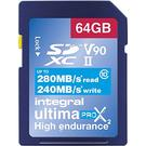 Integral 64GB UltimaPro X2 SD Card SDXC UHS-II U3 V90 - 280MB/s