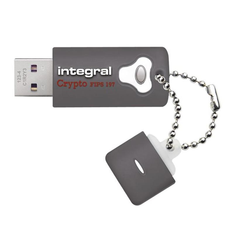 Integral 16GB Crypto FIPS 197 256-Bit AES Hardware Encrypt USB 3.0 Flash Drive - 130MB/s