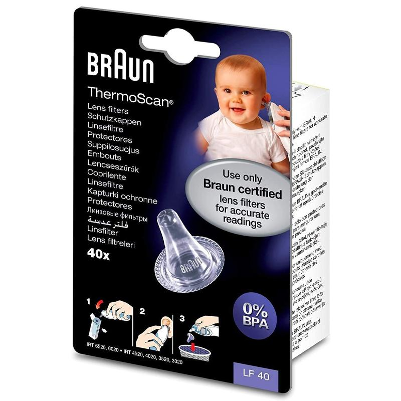 Braun Thermoscan Lens Filters for Ear Thermometers Pack of 40