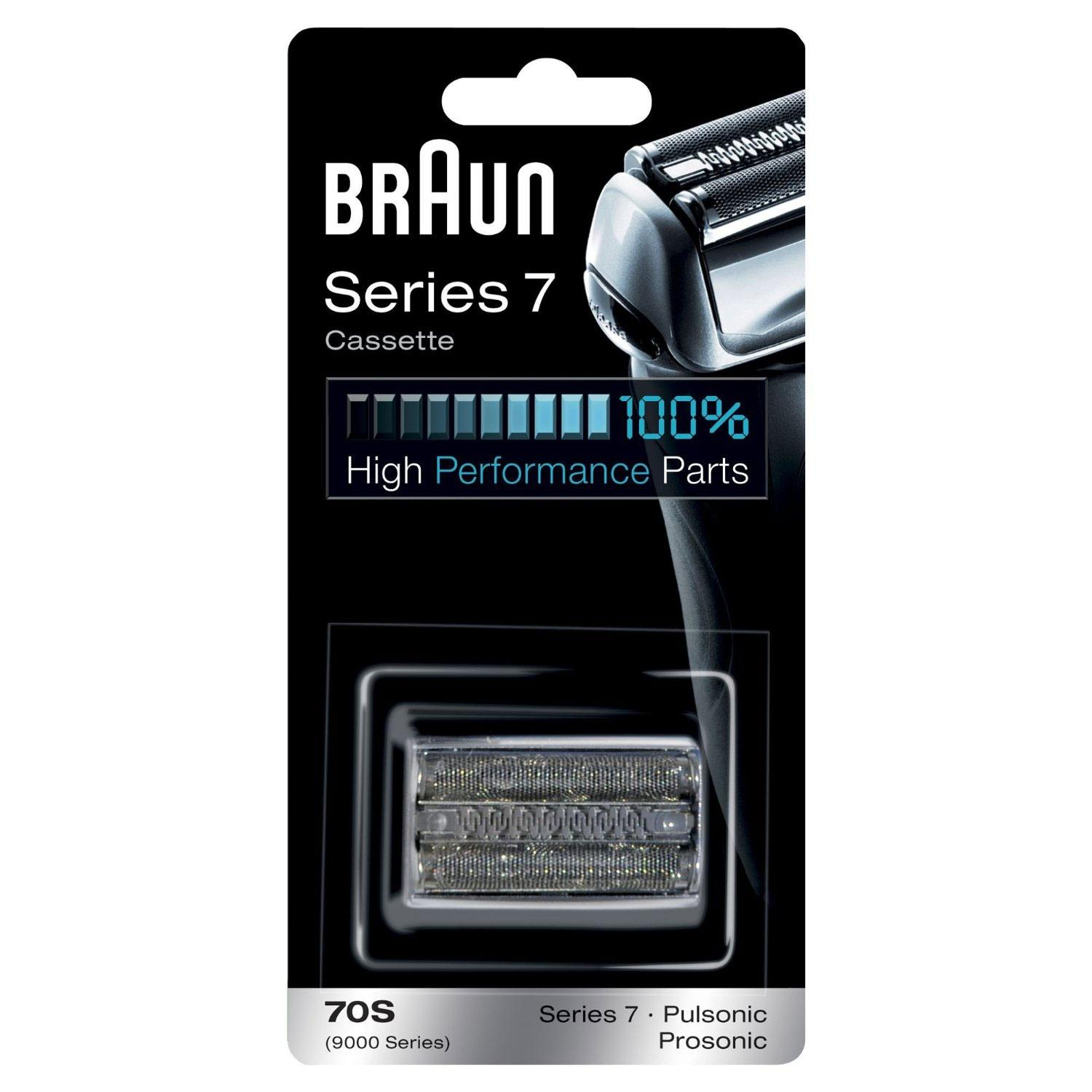 Braun 70S Series 7 Electric Shaver Replacement Foil and Cassette Cartridge - Silver