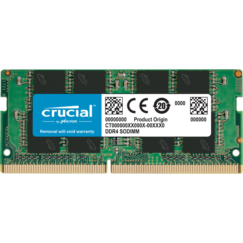 Crucial 8GB (1x8GB) DDR4 3200MHz SO-DIMM CL22 260-Pin Laptop Memory
