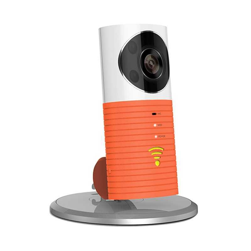 Clever Dog Wireless Smart WiFi Home Security Camera 720p 90° Angle - Orange