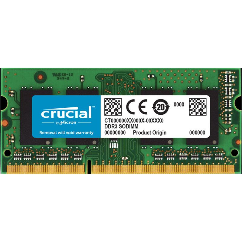 Crucial 2GB (1x2GB)1600MHz DDR3L CL11 204-Pin Non-ECC SO-DIMM Laptop Memory Module