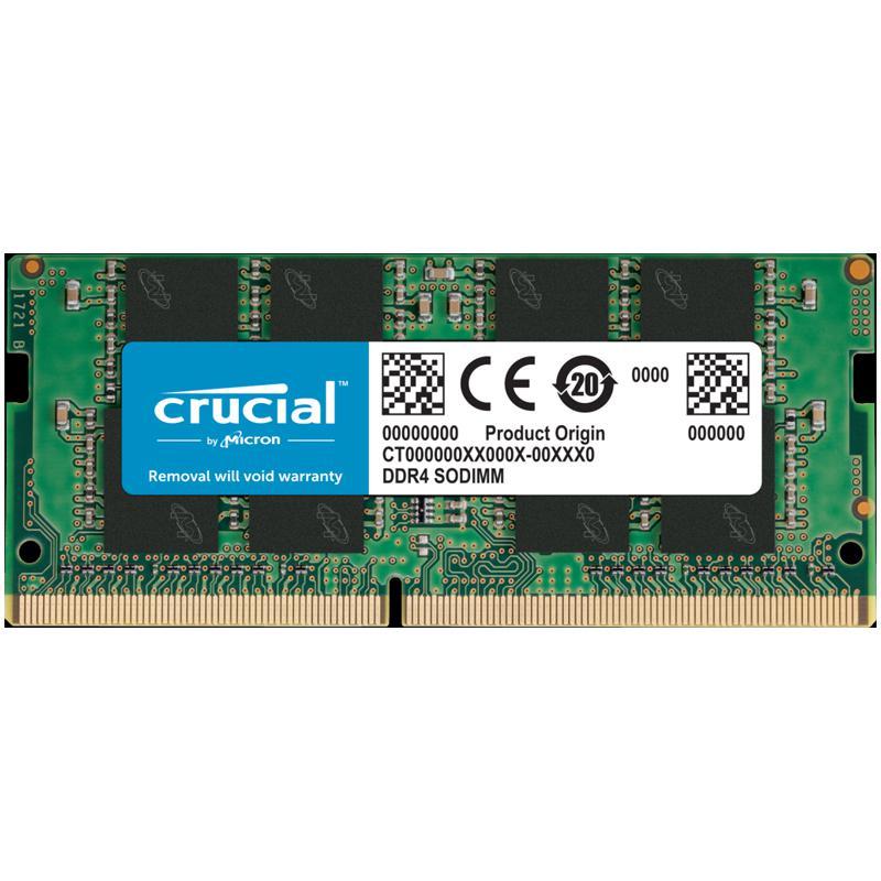 Crucial 8GB (1x8GB) 2400MHz DDR4 260-Pin Non-ECC CL17 SO-DIMM Laptop Memory Module