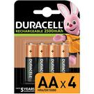 Duracell HR6 2500mAh AA Rechargeable Batteries - 4 Pack
