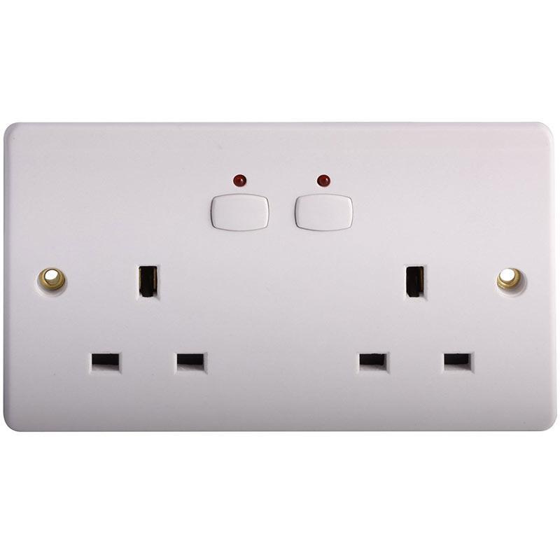 Energenie MIHO007 Double Wall Socket - White