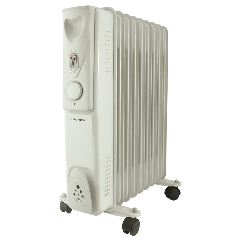 Lloytron Staywarm 2000w 9 Fin Oil Radiator 3 Heat Settings and Thermostat