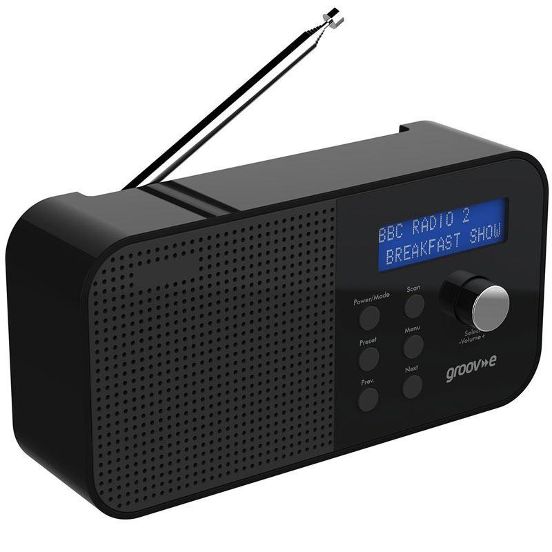 Groov-e Venice Portable DAB/FM Digital Radio - Black