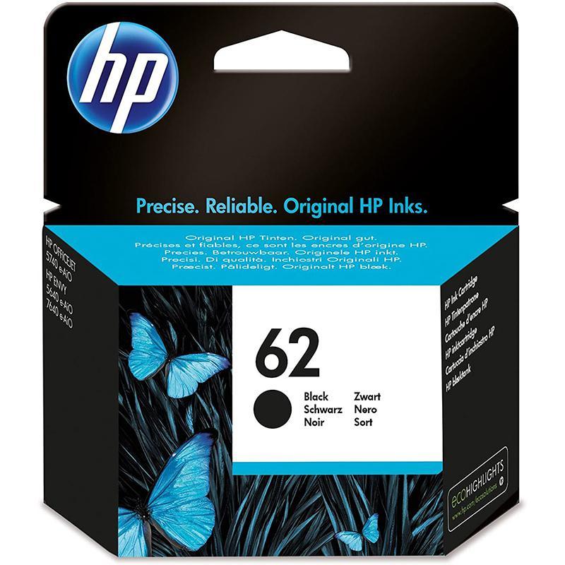 HP 62 Original Black Ink Cartridge (C2P04AE) - Single Pack