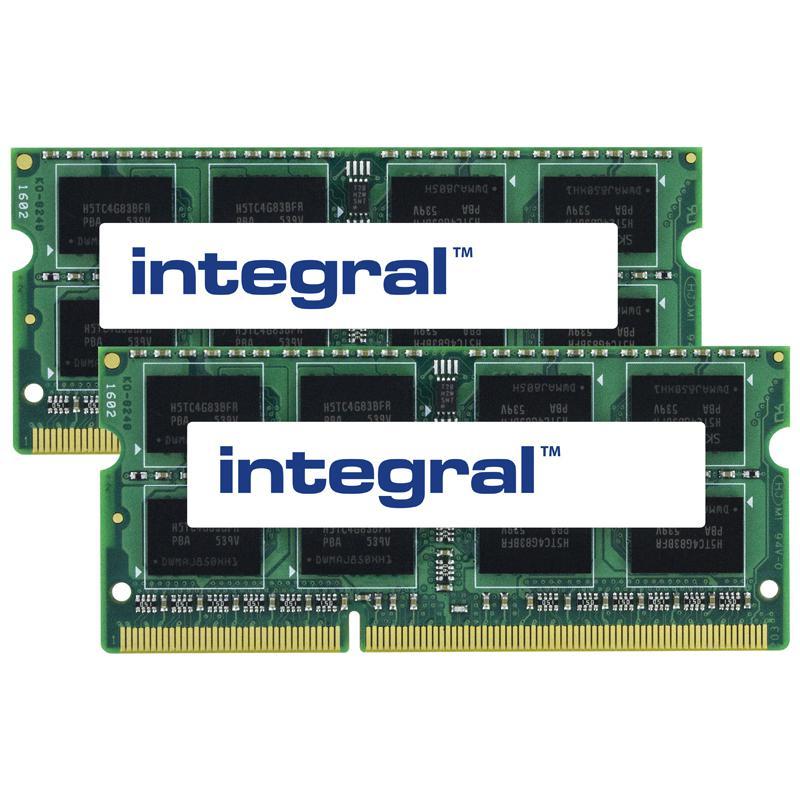 Integral 8GB (2x 4GB) 1600MHz DDR3 SODIMM CL11 Laptop Memory Module Kit