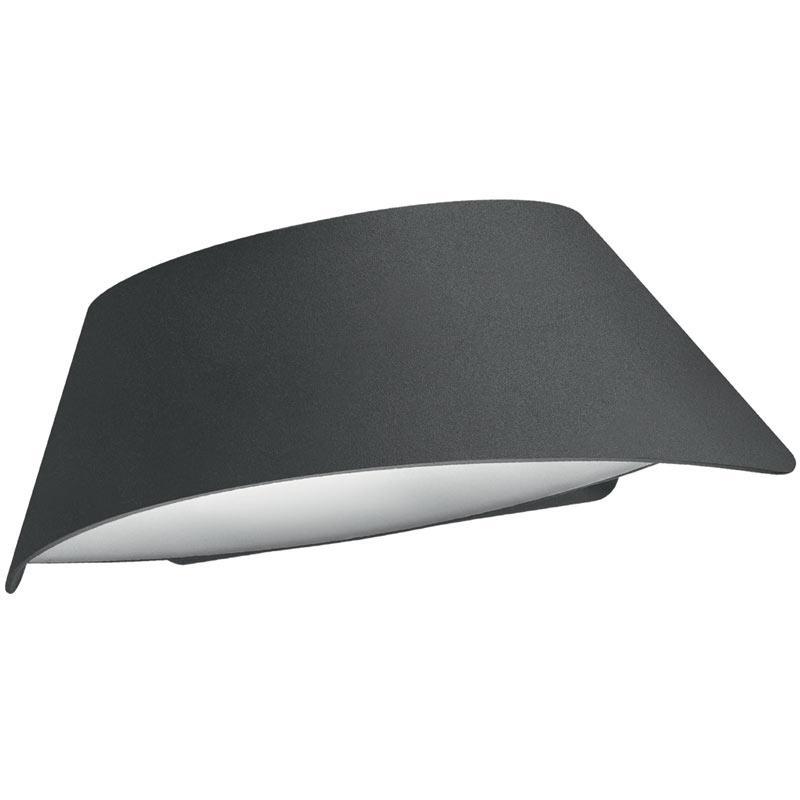 Integral VistaLux Wall Light IP65 9w 400lm 3000K - Dark Grey