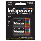 Infapower 2500mAh C Longlife Rechargeable Batteries - 2 Pack
