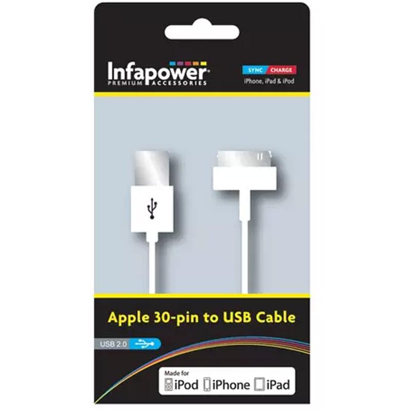 Infapower 30-Pin Apple Dock USB Cable - 1M