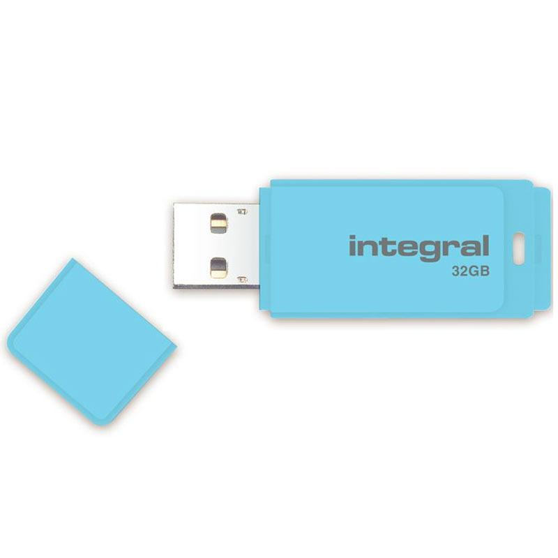 Integral 32GB Pastel USB 3.0 Flash Drive - Blue