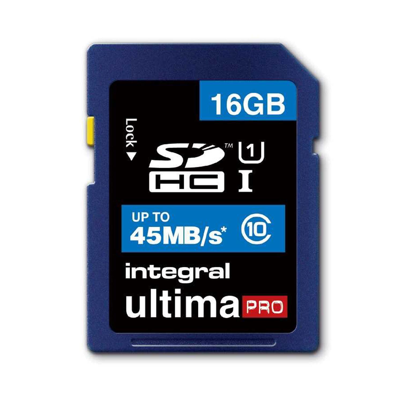 Integral 16GB UltimaPRO SD Card (SDHC) - 45MB/s