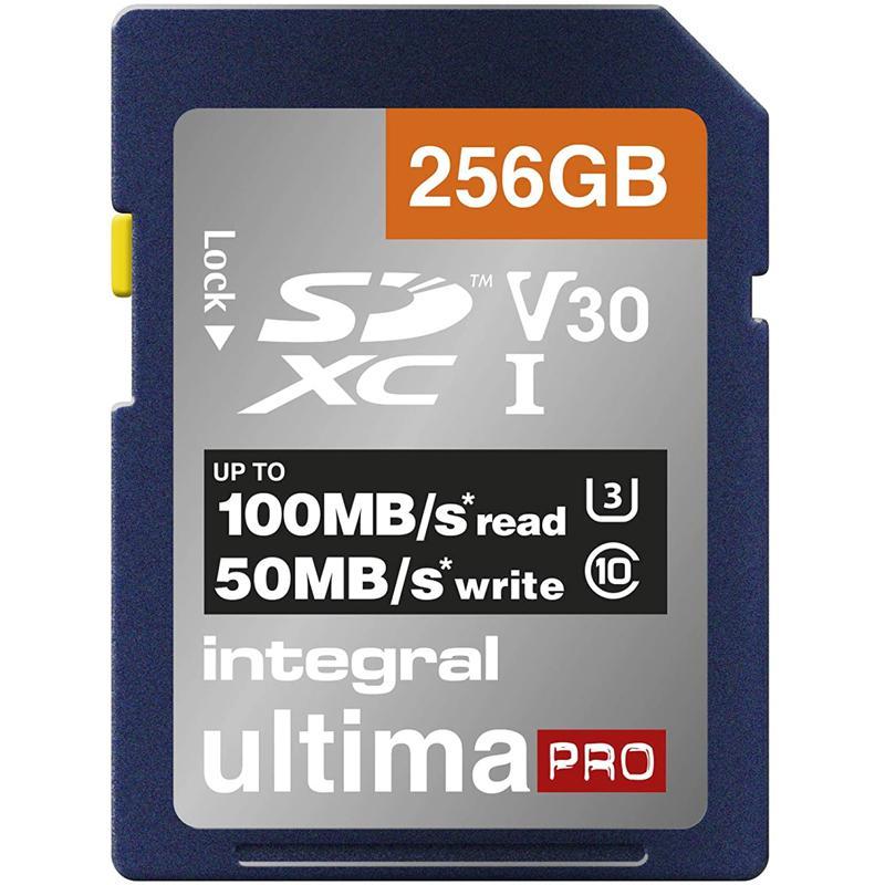 Integral 256GB UltimaPRO V30 Premium SD Card (SDXC) UHS-I U3 - 100MB/