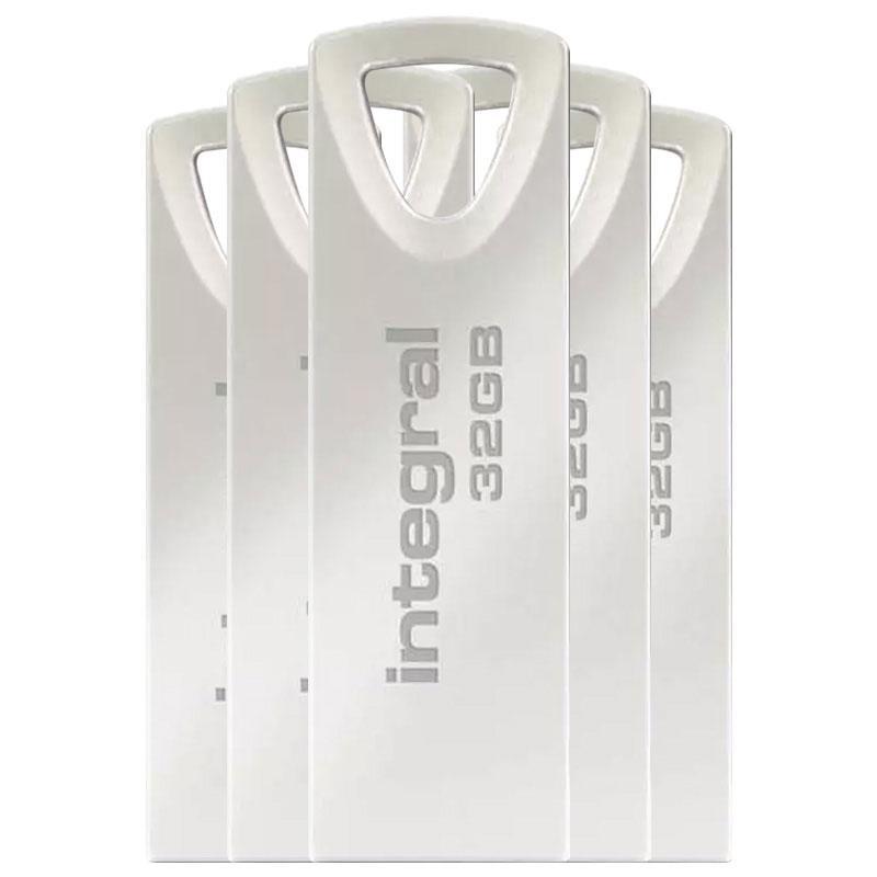 Integral 32GB Arc USB Flash Drive - 5 Pack