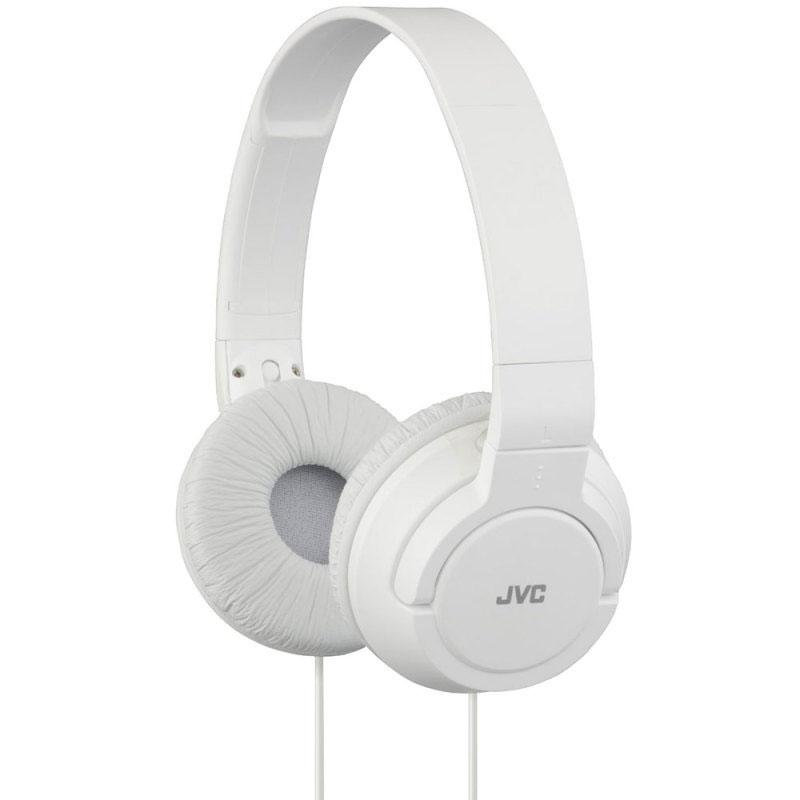 JVC Over-Ear Powerful Bass Headphones 3.5mm Corded - White