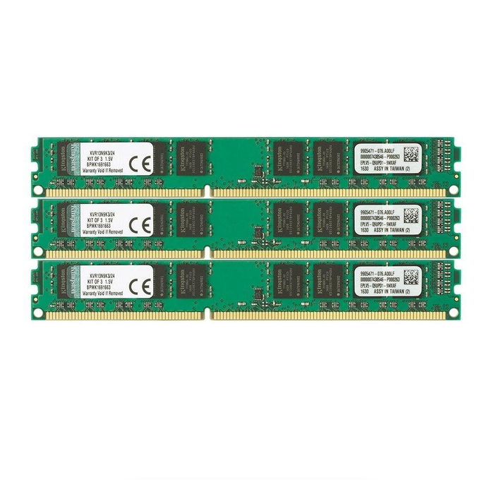 Kingston ValueRAM 24GB (3x8GB) 1333MHz DDR3 Non-ECC 240-Pin CL9 DIMM Server Memory Module