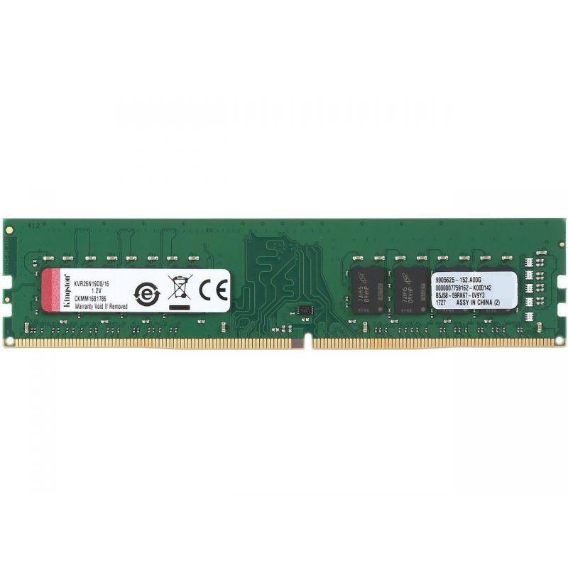 Kingston ValueRAM 16GB (1x16GB) 2666MHz DDR4 Non-ECC 288-Pin CL19 DIMM Server Memory Module