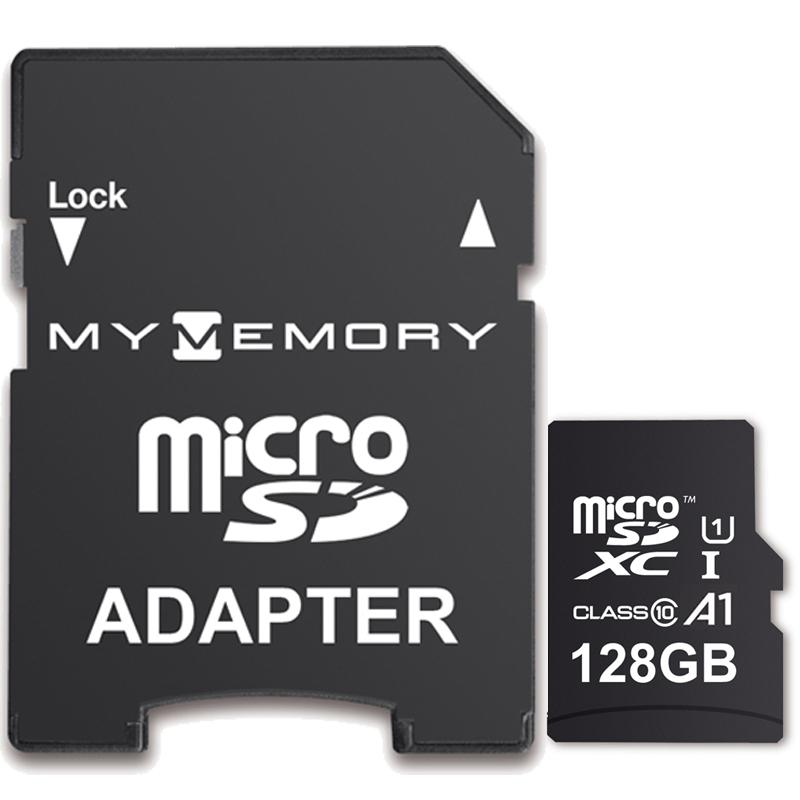 MyMemory 128GB V10 High Speed Micro SD Card (SDXC) A1 UHS-1 U1 + Adapter - 100MB/s