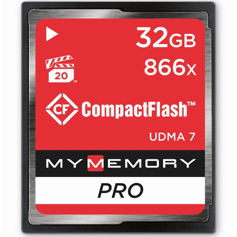MyMemory 32GB PRO 866X Compact Flash Card - 130MB/s