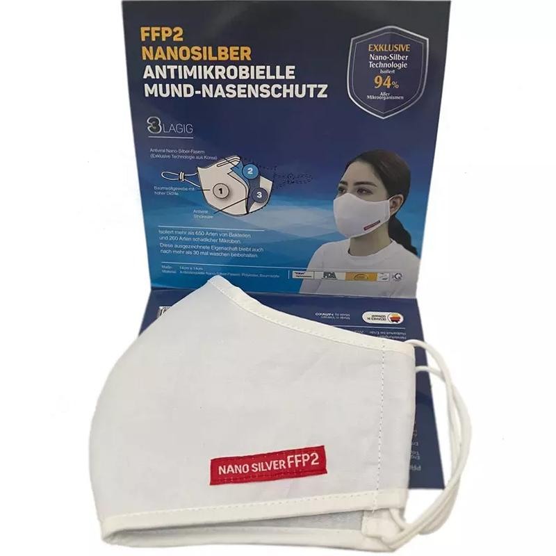 Nano Silver FFP2 Washable Anti-Bacterial Face Mask - 2 Pack