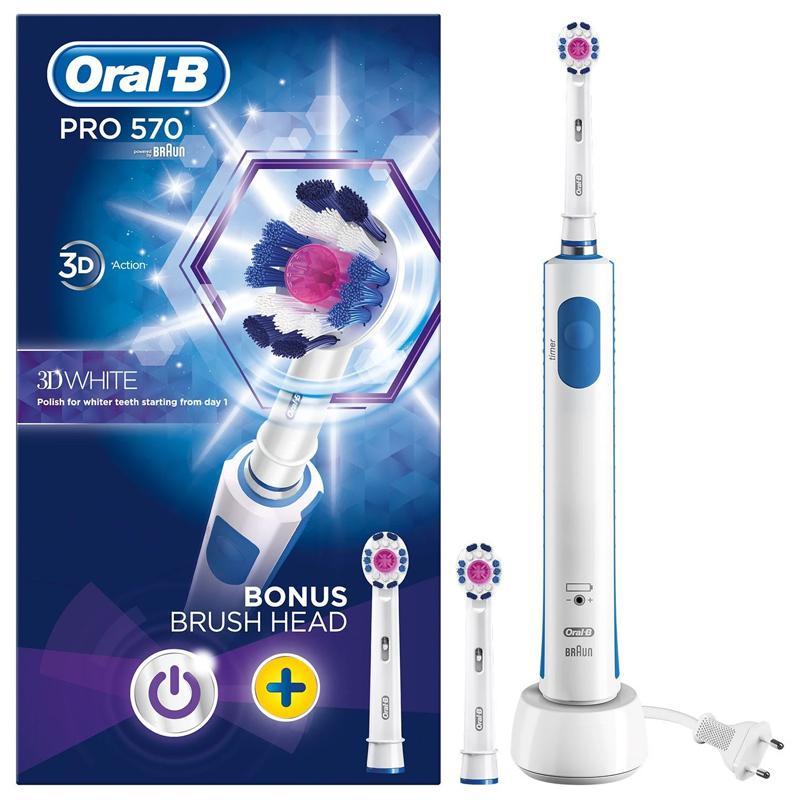 Oral-B Power Pro 570 Sensi 3D White Electric Toothbrush
