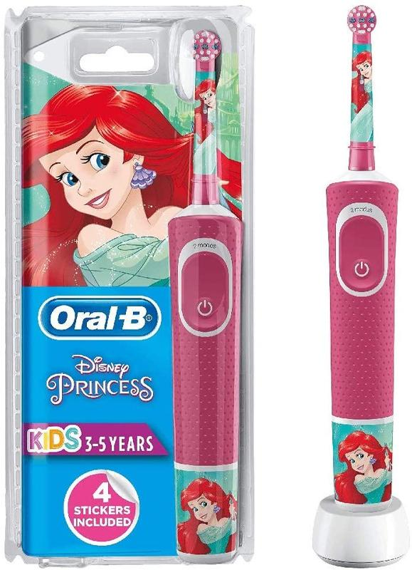 Oral-B Kids Electric Toothbrush Disney Princess Rechargeable + 4 Stickers