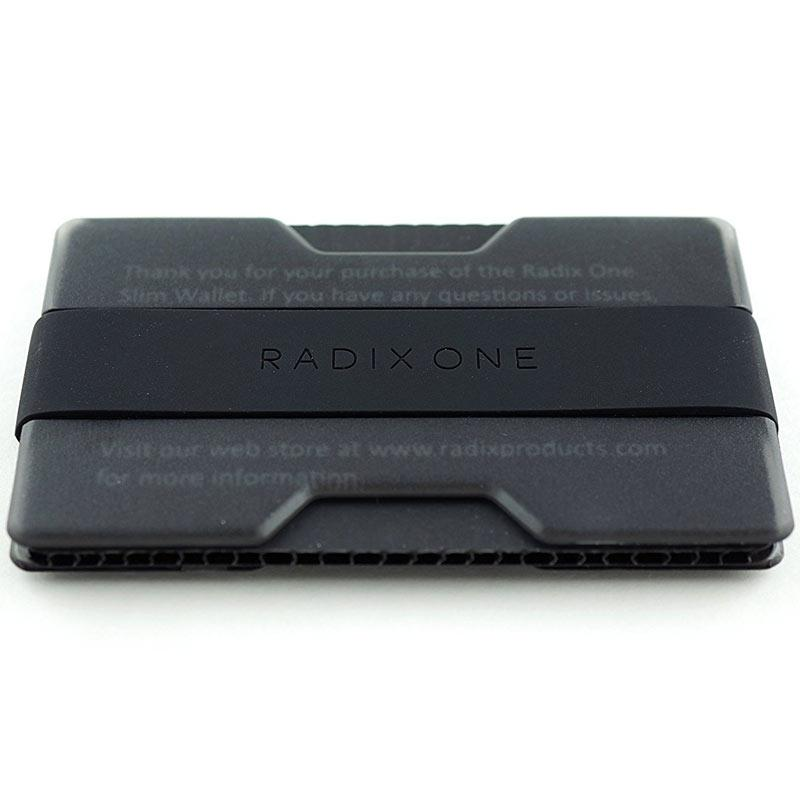 Radix One Slim Wallet - Smoke Black
