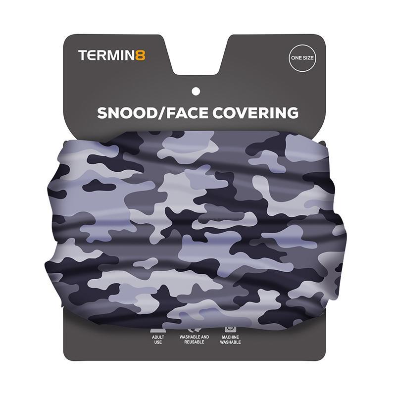 Snood Face Covering - Grey Camo
