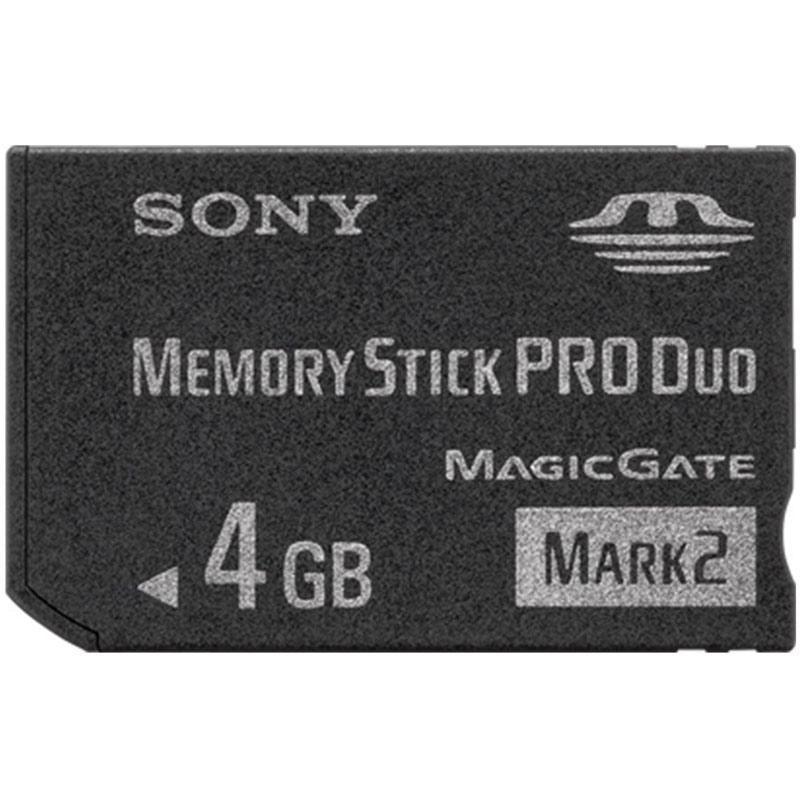 Sony 4GB Memory Stick PRO Duo Card