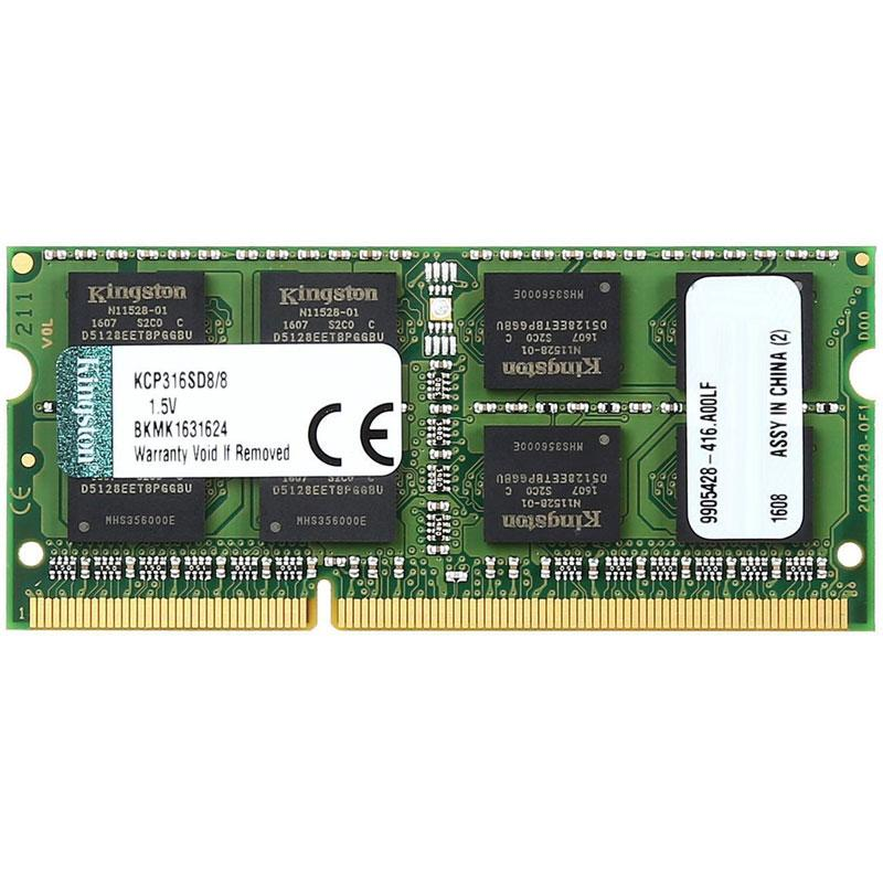 Kingston 8GB (1x8GB) 1600MHz DDR3 Non-ECC CL11 204-Pin SODIMM PC Memory Module