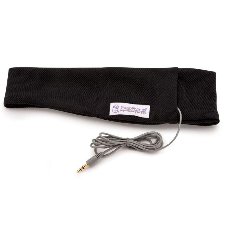 SleepPhones Classic Wired Headphones Breeze - Pitch Black - Medium