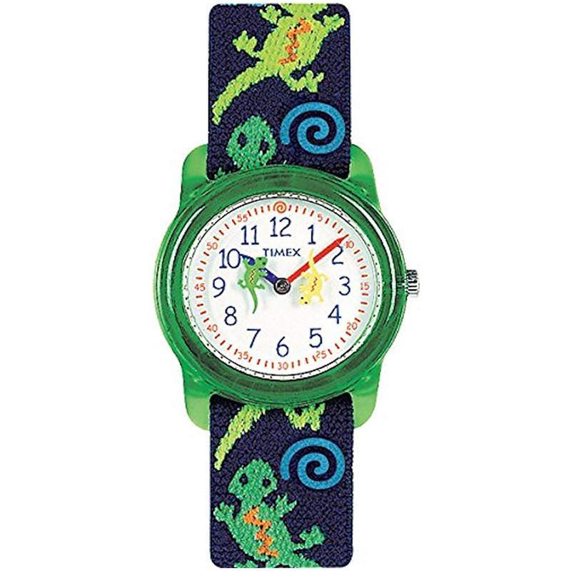 Timex Kids Analog 29mm Elastic Fabric Strap Watch - Geckos