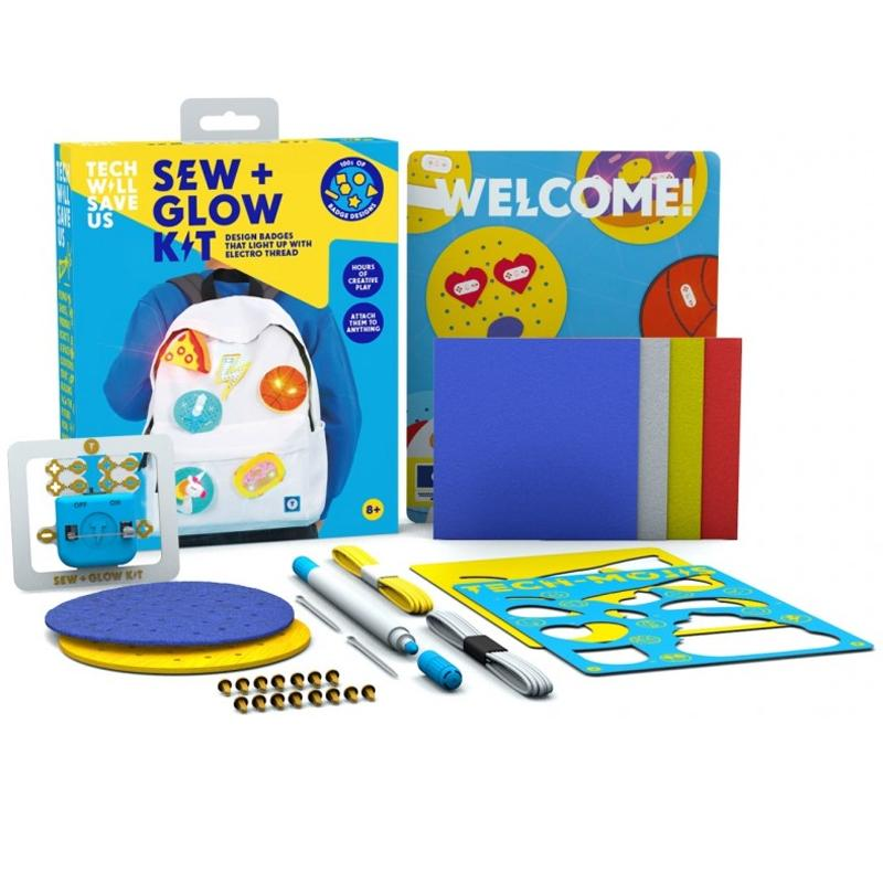 Tech Will Save Us Sew & Glow Kit Educational Sewing and Craft Toy