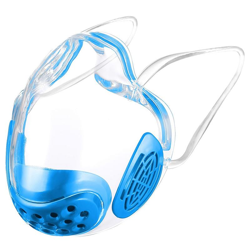 Transparent Face Mask Shield Anti Fog Adult Unisex - Blue
