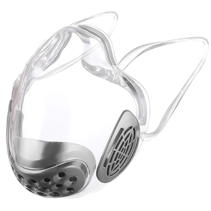 Transparent Face Mask Shield Anti Fog Adult Unisex - Black