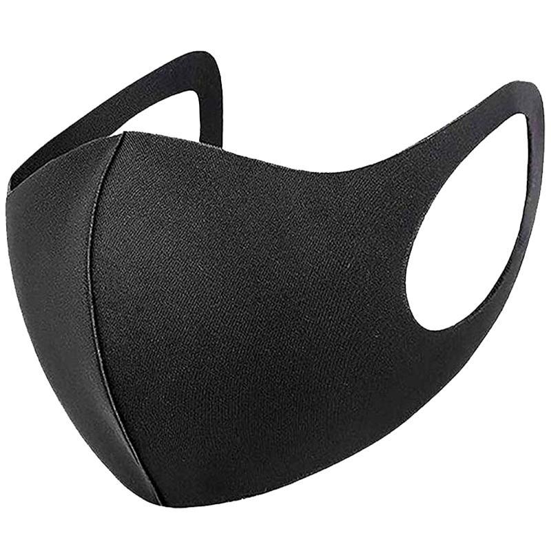 Washable Adult Fashion Face Mask - Super Black