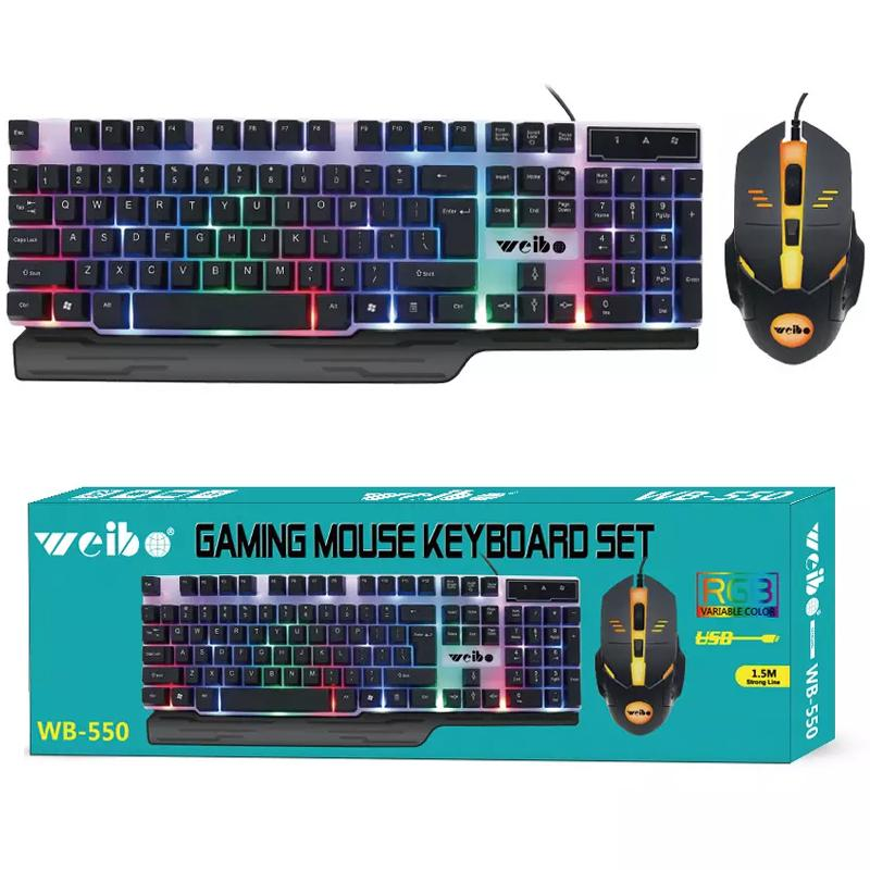 Waterproof Illuminated RGB USB Gaming Keyboard & Mouse