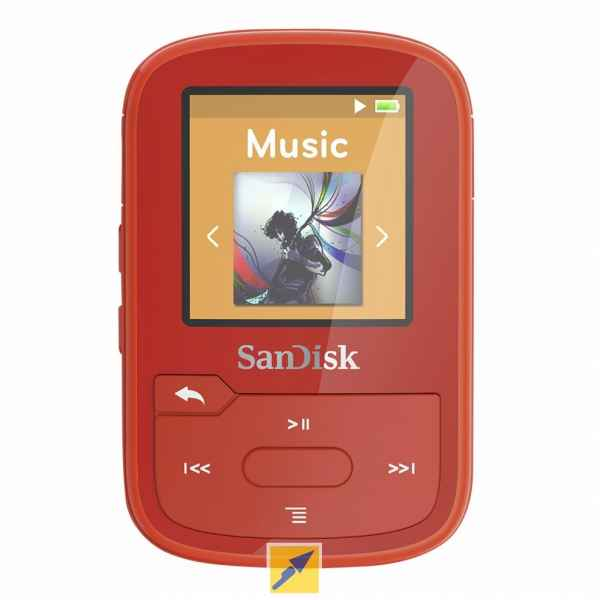 SanDisk Clip Sport Plus 16GB MP3 Player - Red