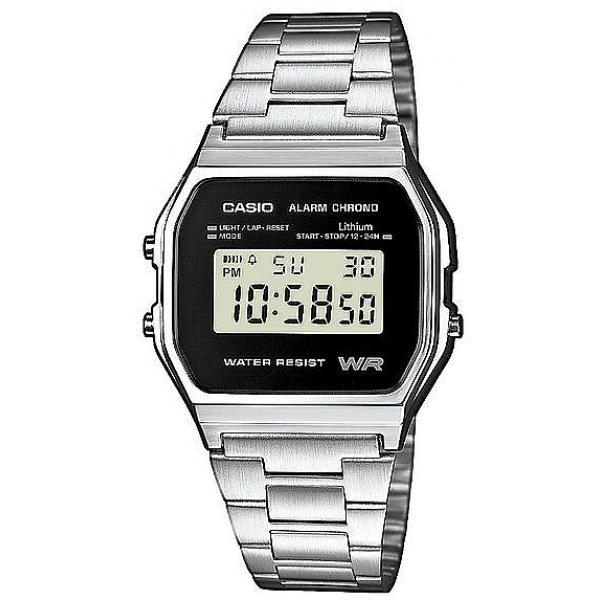 Casio Digital Watch - Silver / Black (A158WEA-1)