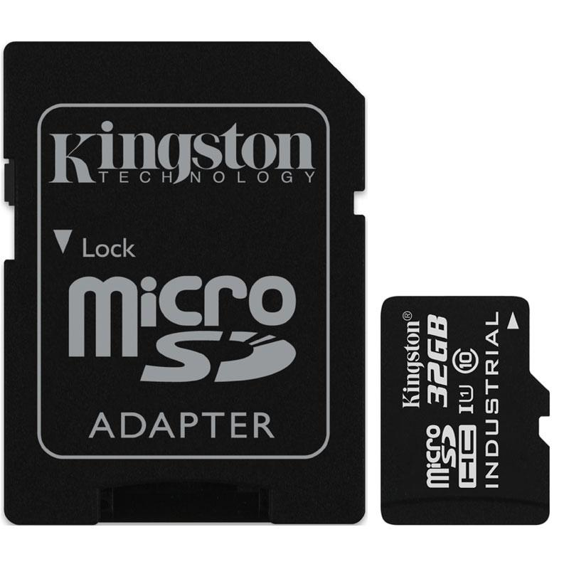 Kingston 32GB Industrial Micro SD Card (SDHC) + Adapter - 90MB/s