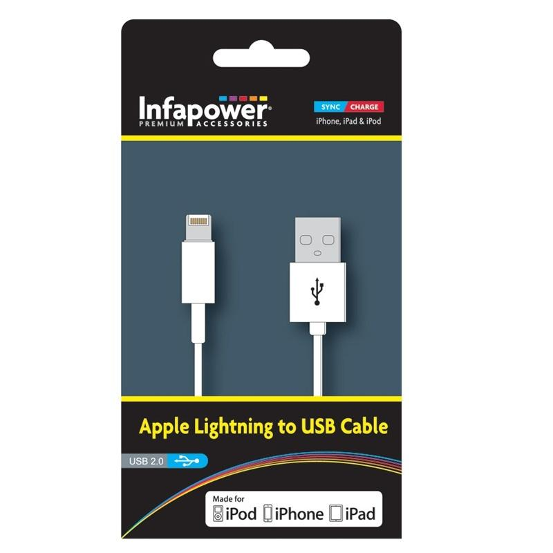 Infapower Apple Lightning USB Cable - 1M (Officially Licenced)