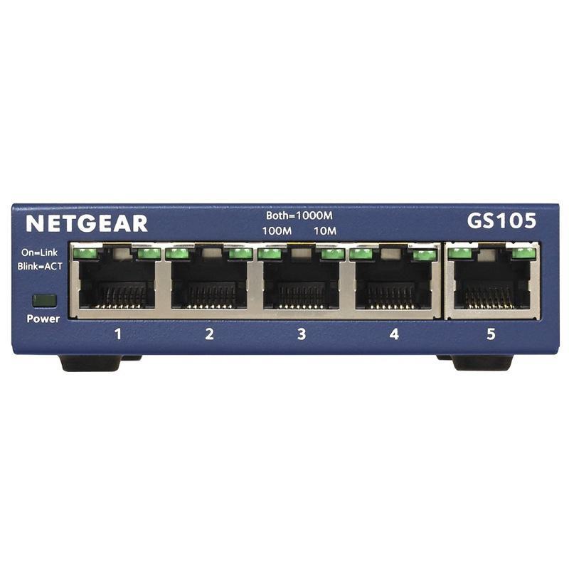 Netgear 5-Port Gigabit Unmanaged Ethernet Switch (GS105UK)